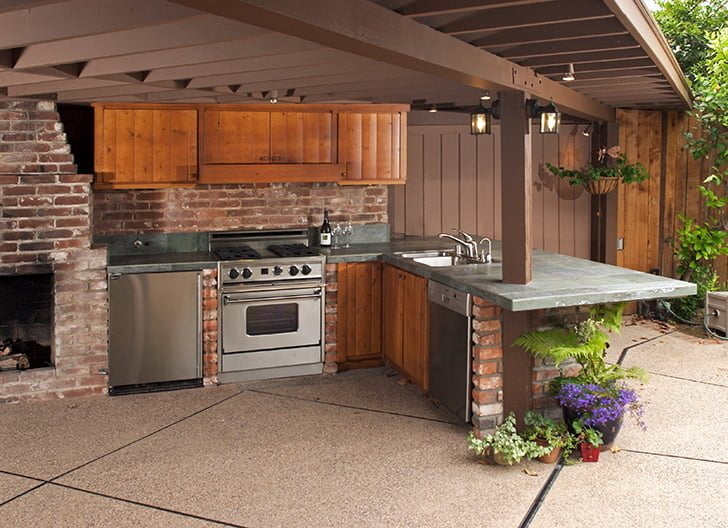 outdoor kitchens hightech landscapes